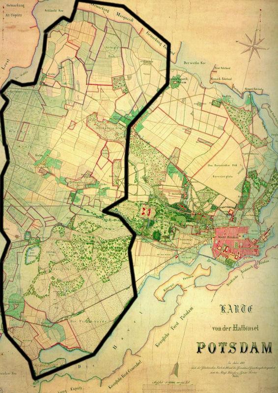 Karte Westraum hsitorisch